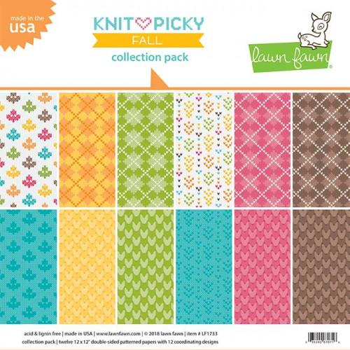Bloc de papiers 30,5 x 30,5 cm Knit & Picky Fall
