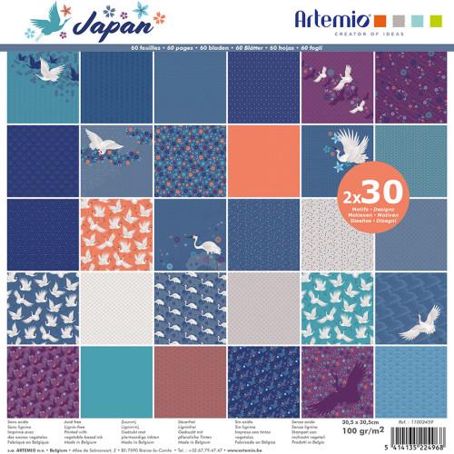 Bloc de papiers Japan 30,5 x 30,5 cm - 60 feuilles
