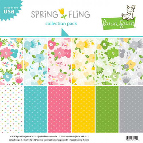 Bloc de papiers 30,5 x 30,5 cm Spring Fling