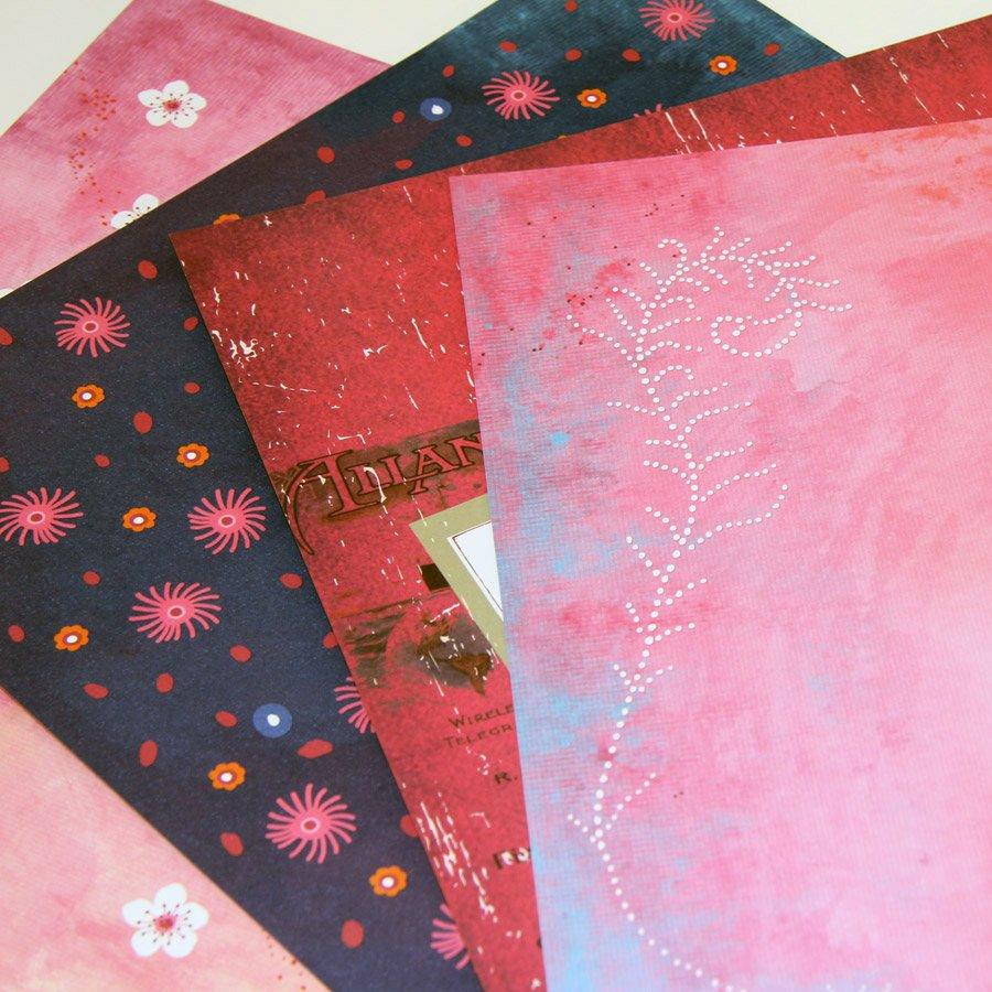 Artist'Box - Papiers scrap à motifs - 100 feuilles