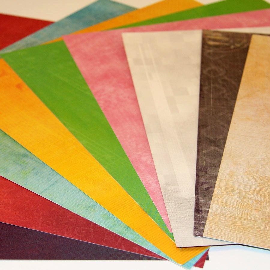 Artist'Box - Papiers scrap ton sur ton - 100 feuilles