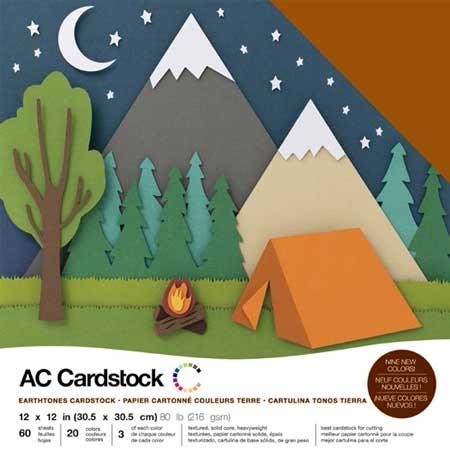 Cardstock Pack - Nature - 30,5 x 30,5 cm - 60 feuilles