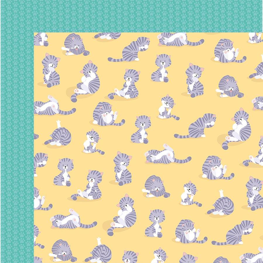 Set de 6 papiers Family Friends Chats - 30 x 30 cm