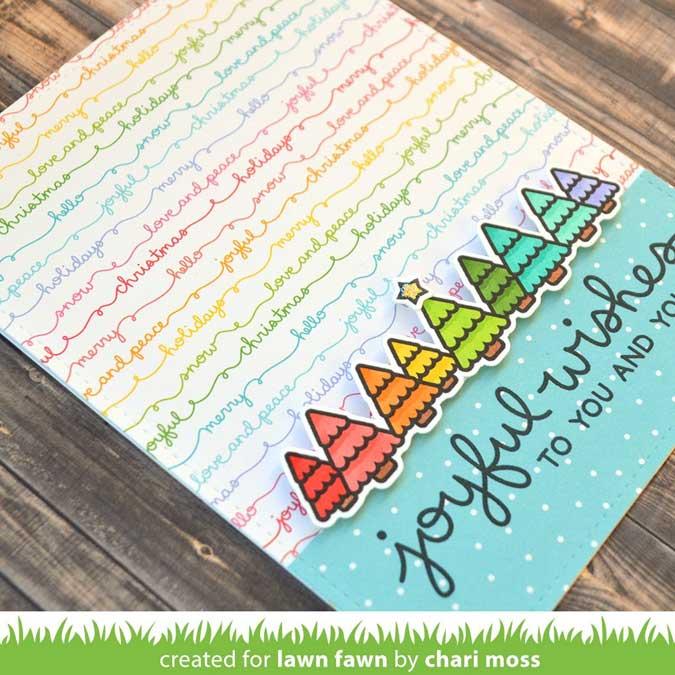 Bloc de papiers 30,5 x 30,5 cm Really Rainbow Christmas