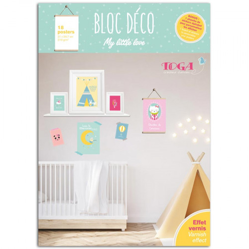 Bloc Déco My Little Love - 18 affiches A4