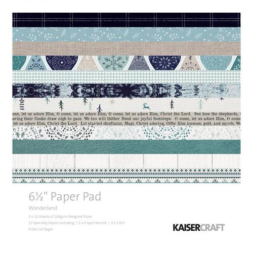 Bloc de papiers 16,5 x 16,5 cm Wonderland