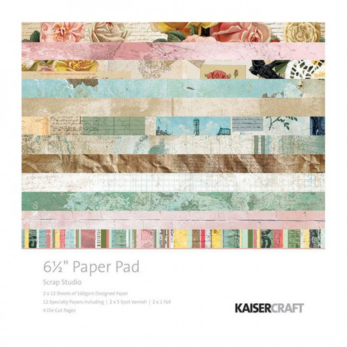 Scrap Studio Bloc de papiers 16,5 x 16,5 cm