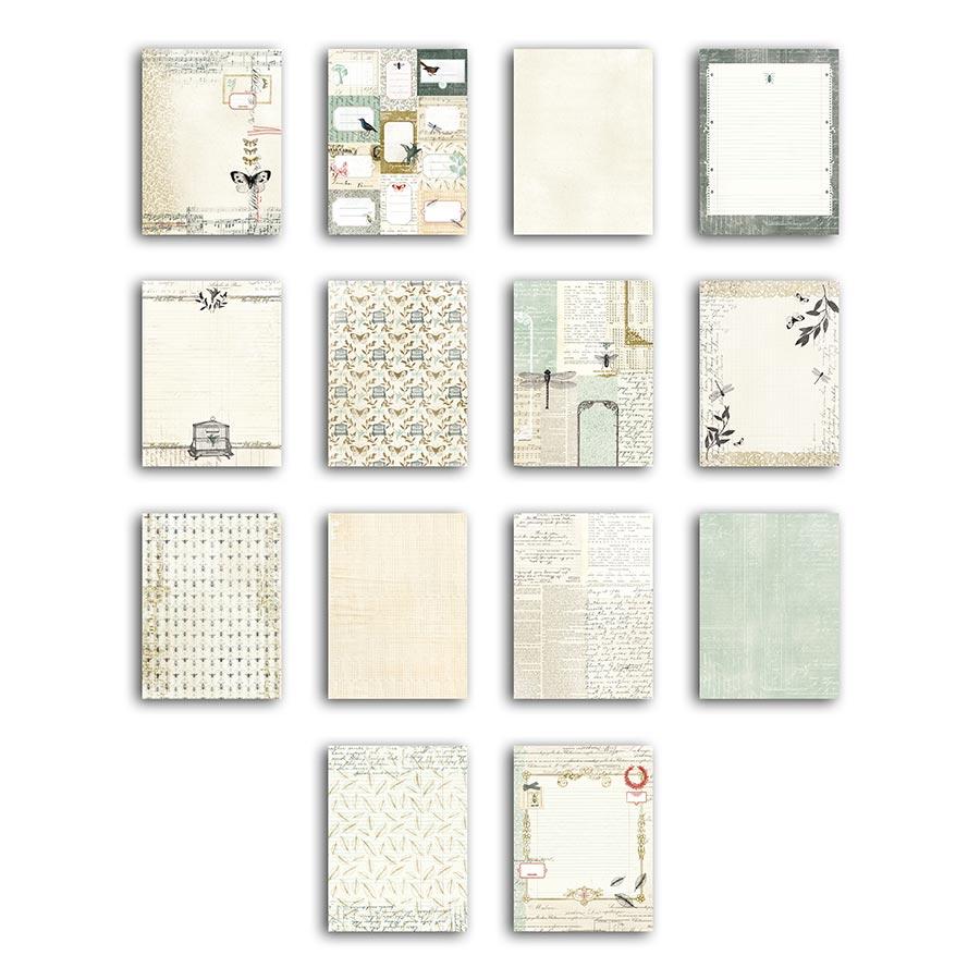 Cabinet de Curiosités - Bloc de 28 feuilles de papier
