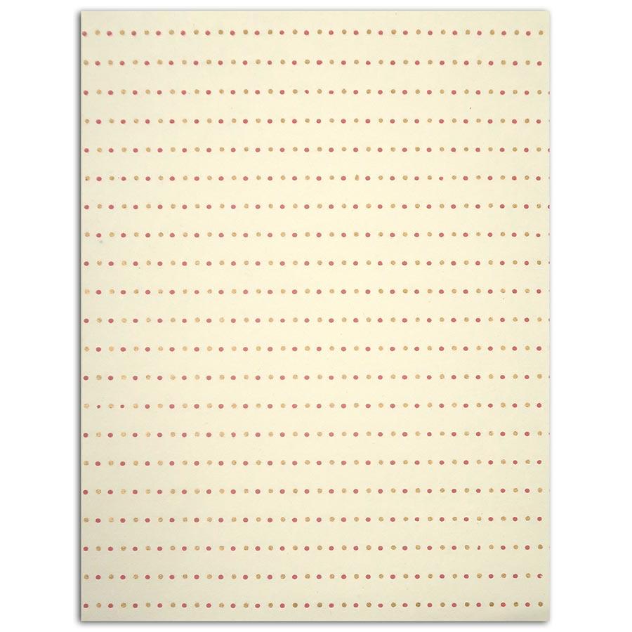 L'Or de Bombay - Pastel - 6 feuilles de papier recyclé - 27,8 x  21,6 cm
