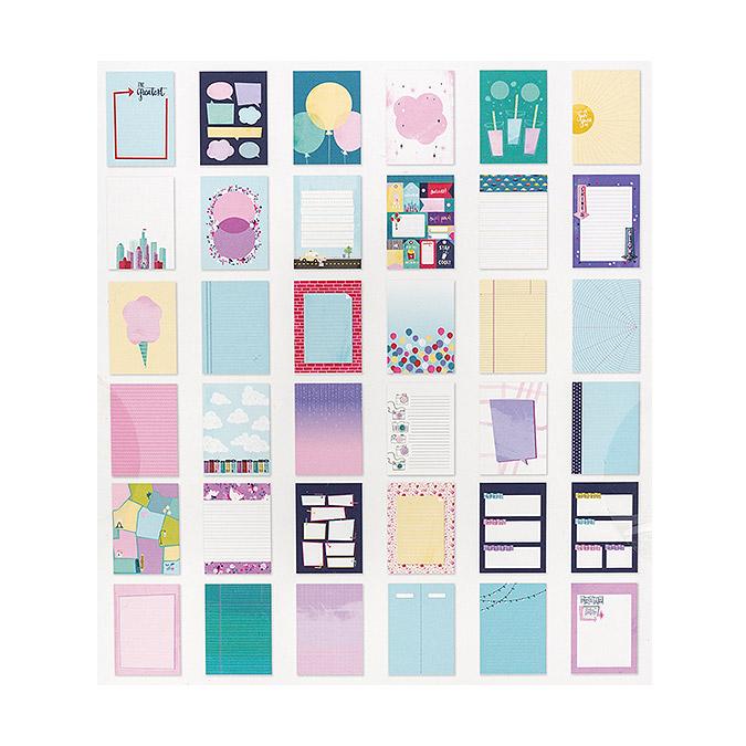 Sparkle City Bloc pour le journaling 15 x 20 cm