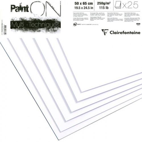 Rame Paint On - multi-techniques - 250 g/m² - 50 x 65 cm - 25 feuilles