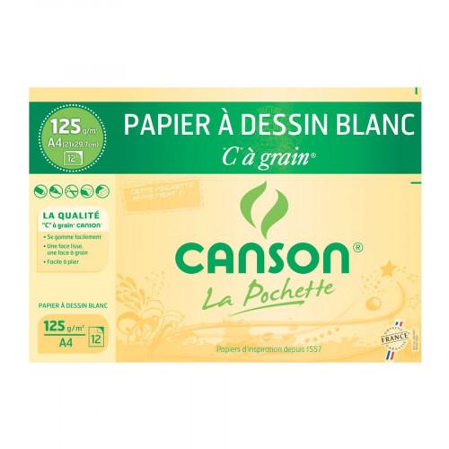 Papier à dessin blanc - C à Grain - 125 g/m² - A4