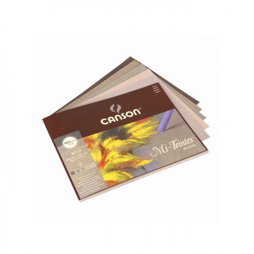 Papier Mi-teintes tons gris 24x32 cm 30 feuilles