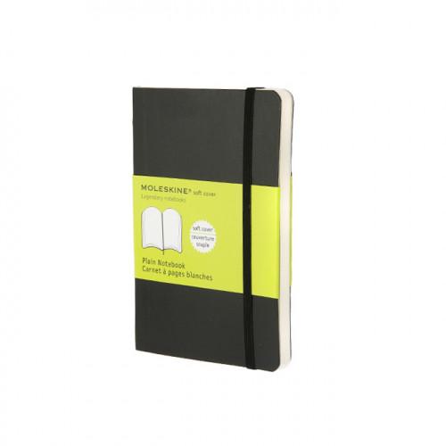 Carnet de notes Moleskine souple pages blanches 9 x 14 noir