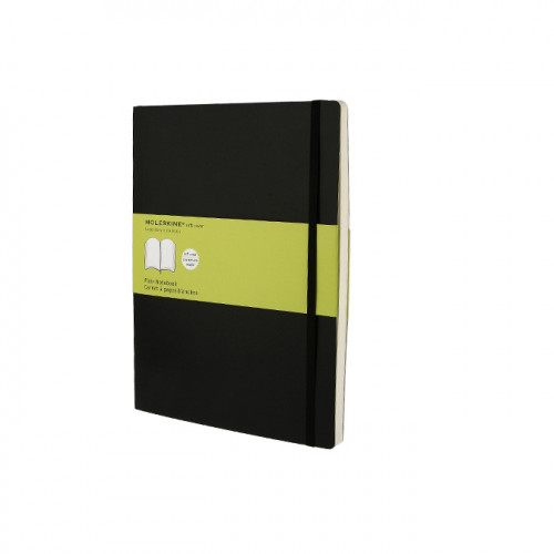 Carnet de notes Moleskine pages blanches 19 X 25 noir