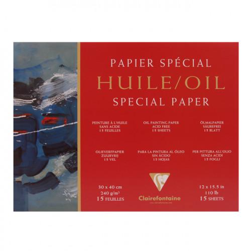 Bloc de papier pour peinture à l'huile 240 g/m²