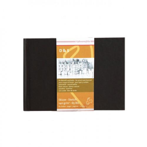 Livre à croquis format paysage couverture noire 140g/m² 30 fles