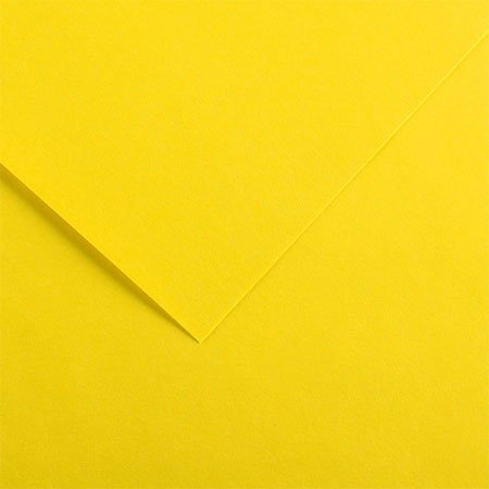Papier Iris Vivaldi - 50 x 65 cm - 240 g/m² - jaune canari (4)