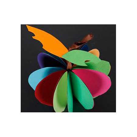 Papier Iris Vivaldi - 50 x 65 cm - 240 g/m² - clémentine (8)
