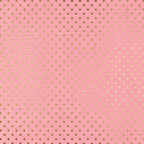 Papier Rose blush & Pois or