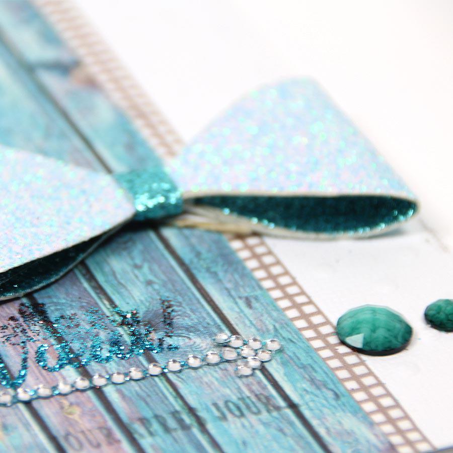 Papier imprimée recto - Lasure Bleu
