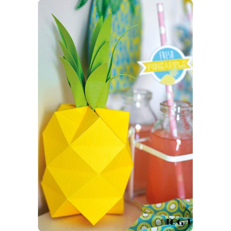 Papier - jaune fluo -  30,5 x 30,5 cm