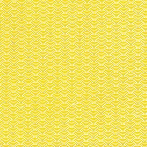 L'Or de Bombay - motifs japon - jaune - 38 x 56 cm
