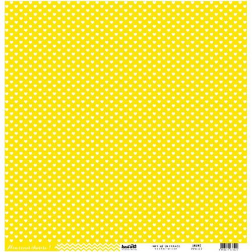 Basics - Cardstock cœur-chevron - jaune