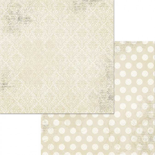 Double Dot Damask - Papier French Vanilla