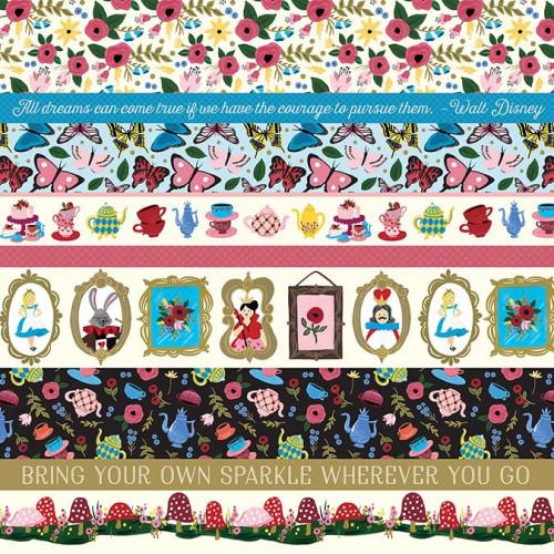 Alice in Wonderland - Papier Border Strips