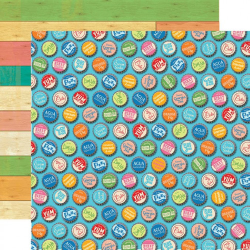 Summer Splash - Papier Bottle Caps