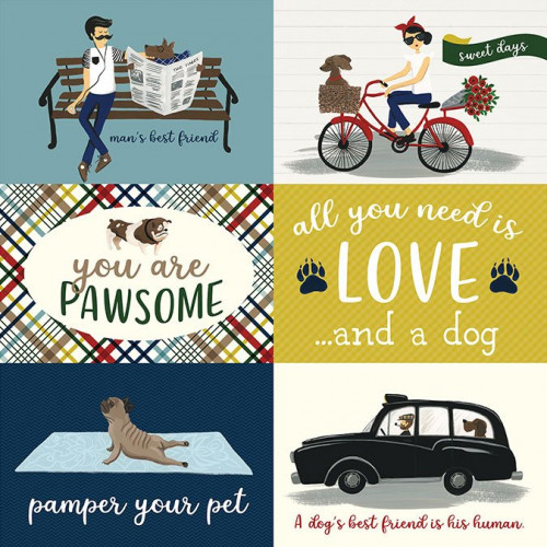 A Dog's Tail - Papier 4x6 Journaling Cards