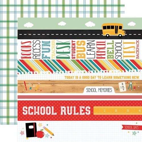 Back to School - Papier Border Strips