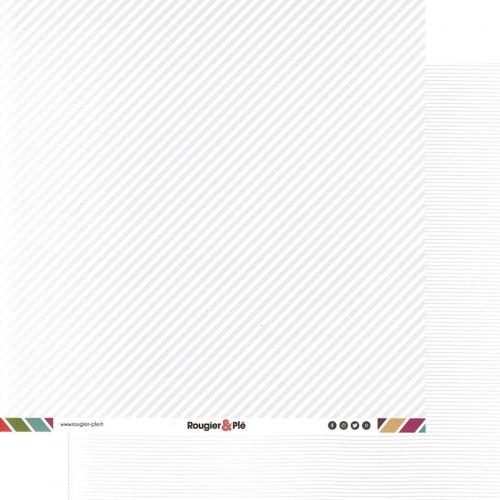 Papier recto-verso - blanc /rayures