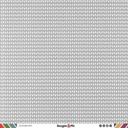 Papier recto-verso - gris / géométrique