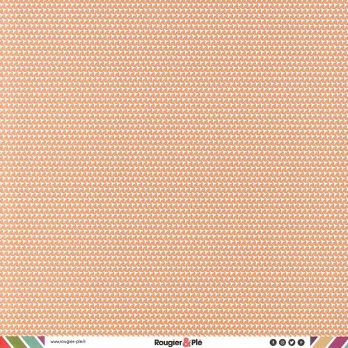Papier recto-verso - havane / géométrique