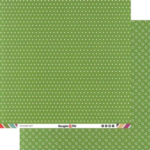 Papier recto-verso - prairie / pois & étoiles