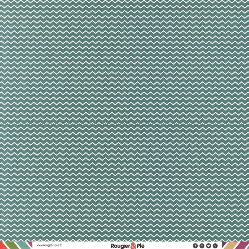 Papier recto-verso - turquoise / chevrons