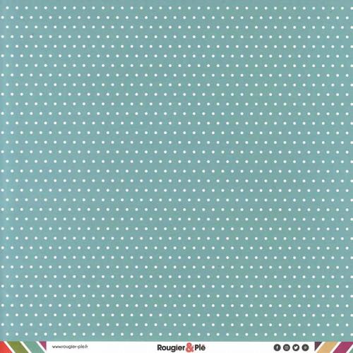 Papier recto-verso - lagon / pois & étoiles