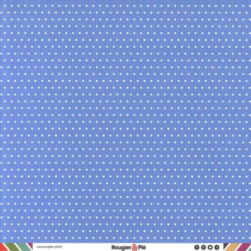 Papier recto-verso - bleu / pois & étoiles