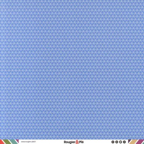 Papier recto-verso - bleu / géométrique