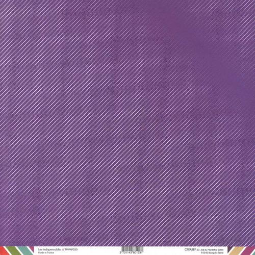 Papier recto-verso - violet / géométrique