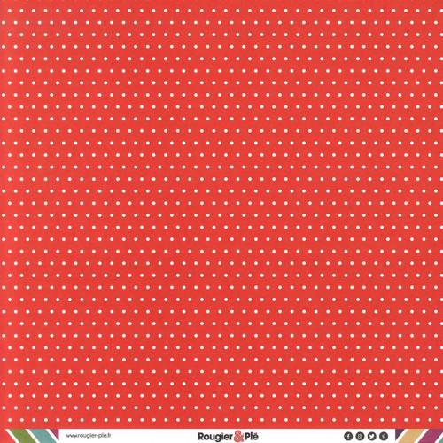 Papier recto-verso - rouge / pois & étoiles