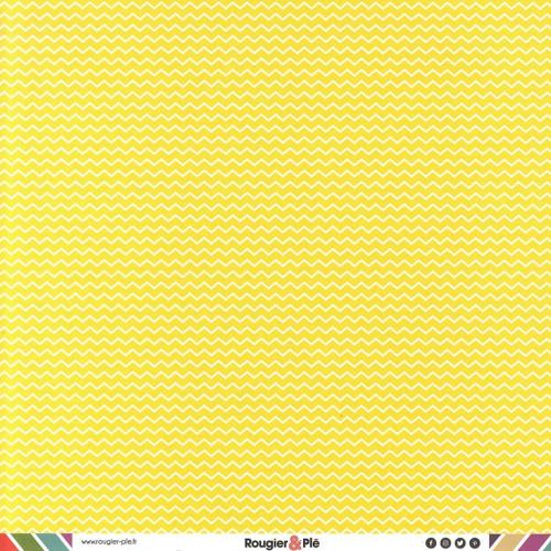 Papier recto-verso - citron / géométrique