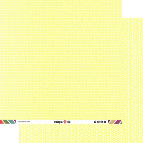 Papier recto-verso - paille / géométrique