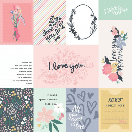 You and Me - Papier 3X4 Journaling Cards