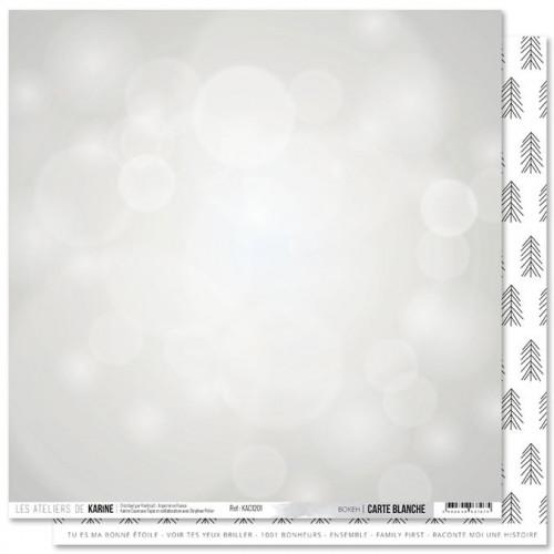 Carte Blanche - Papier Bokeh