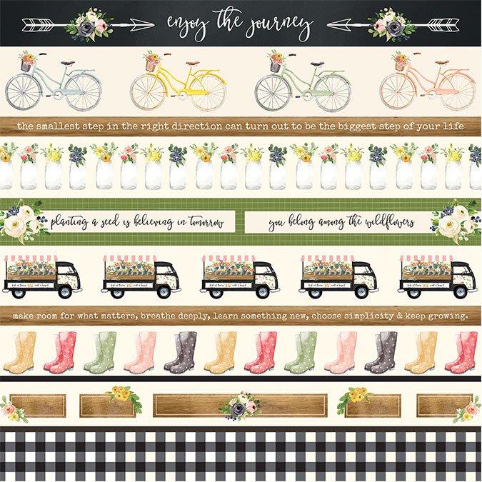 Spring Market - Papier Border Strips