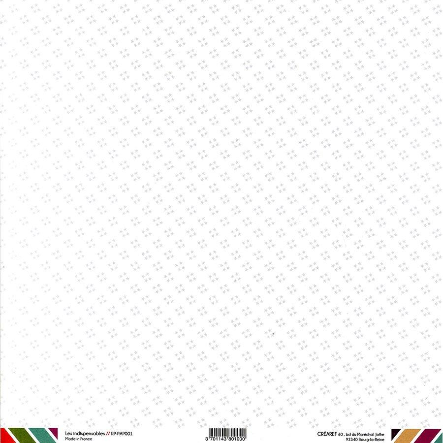 Papier recto-verso - blanc / pois & étoiles