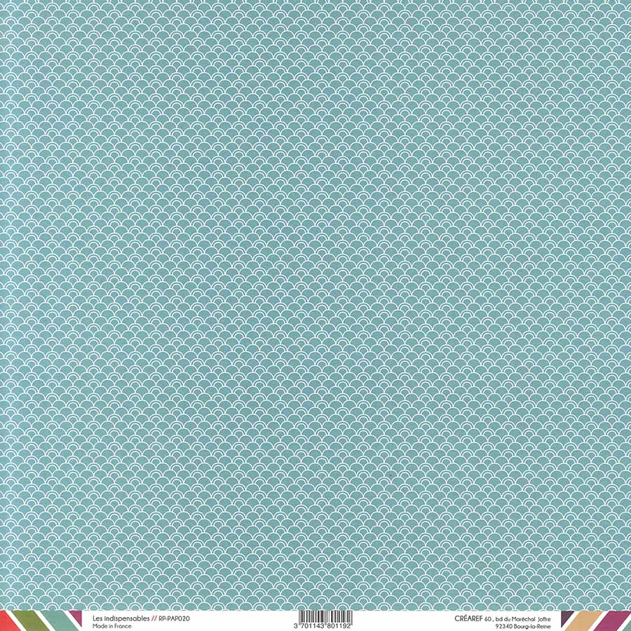 Papier recto-verso - lagon / géométrique